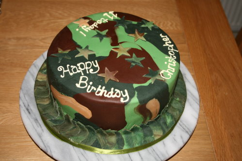 Army Themed Cakes Army Camouflage Cake