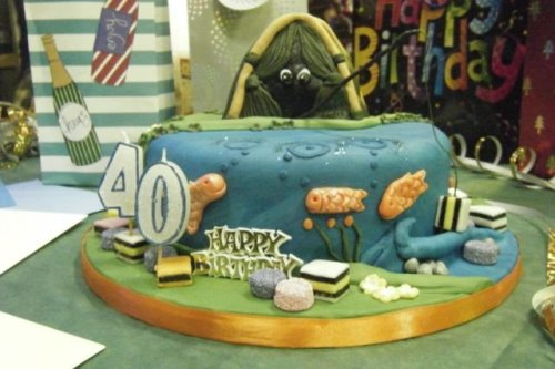 cake toppers fishing. Gone Fishing / Seabed Cake